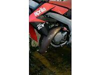 Aprilia sx50 Technigas exhaust