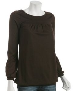Brand New Designer Shirt/Top/Blouse by ENVI Size Small Brown