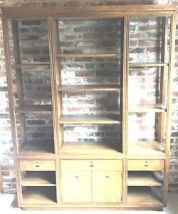VINTAGE SHELVING UNITS AND BOOKCASE