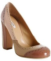 Miu miu nude leather platform pumps