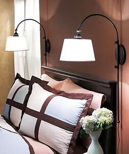 New Adjustable Bedside Wall Lamp Black Reading Light Sconce Bedroom Streetlamp eBay