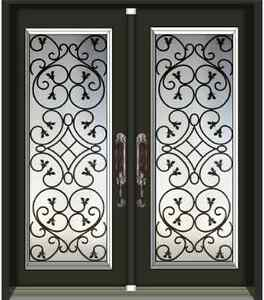 A-1 WROUGHT IRON & STAIN GLASS DECORATIVE INSERTS