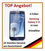 Samsung Galaxy S3 Schutzfolie Klar