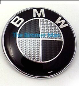 black carbon fiber bmw hood emblem roundel badge e36 e39 e46 e90 z3 z4 x3 x5 m3 ebay. Black Bedroom Furniture Sets. Home Design Ideas