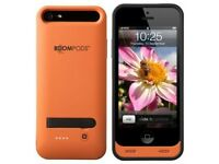 BoomPods Power Case- Phone case and charger for Iphone 5/5S/5SE Orange