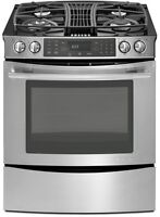 Brand Name Slide-In Downdraft Gas Range with Convection Oven 30