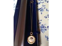 Stunning 9ct Gold Victorian Fob Double Sided Photo Pendant On A Solid 9ct Gold Chain