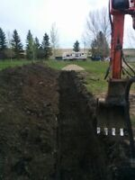 Water and septic line installation, repair and replacement.