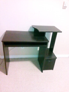 Dark cherry desk