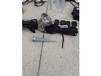 Brand New Garden Stainless Steel Decking/Spike spotlamps & additional cable