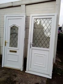 PAIR OF UPVC DOORS VERY GOOD USED CONDITION WITH KEYS