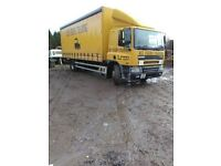 Daf 65 cf 250 curtainside truck.