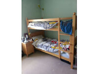 The children's furniture company -matching child's bedroom furniture set in natural beech. Gt cond