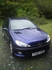 Peugeot 206 SW £30 tax with tow bar.