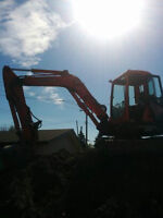 Excavating, Skid Steer, Hauling, Water drainage. We do it all.
