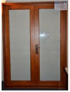 Solid Cedar French Door 1800 x 2100 by Simply Doors & Windows Paradise Point Gold Coast North Preview