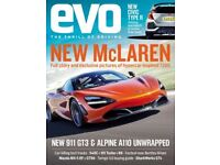 Evo car magazines. Over 200 editions from 1999 to 2017.