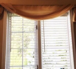 Valance Curtains with decorative rods (3 sets)