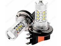 2 x H15 Xenon white 80W CREE led bulbs for Audi BMW Mercedes vw etc head light