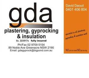 GDA PLASTERING & GYPROCKING SERVICES PTY LTD Sutherland Sutherland Area Preview