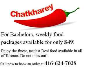 Weekly packages of desi food available for only $49!