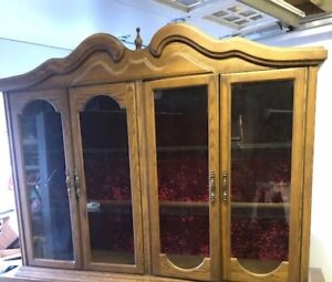 FREE Top hutch of kitchen cabinet ith glass door