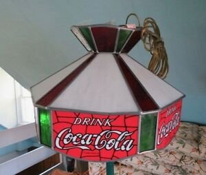Coca Cola Hanging Stained Glass Lamp