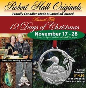Annual Fall '12 Days of Christmas' Cambridge Kitchener Area image 1