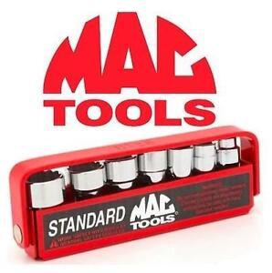 "NEW 7PC MAC TOOLS 1/4"" DRIVE SOCKET SET SAE STANDARD - UNIVERSAL - 12PT 106820305"