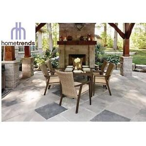 NEW* HOMETRENDS 7PC DINING SET - 132407708 - COLOGNE WITH CUSHIONS