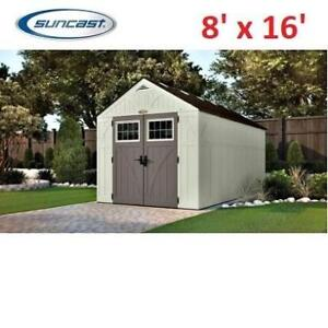 NEW* SUNCAST TREMONT SHED 8'x16' BMS8160 200162904 STORAGE STRUCTURE SHED PATIO