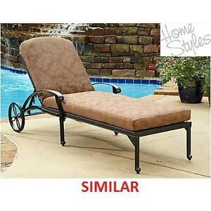 NEW HOME STYLES CHAISE LOUNGE CHAIR - 129726678 - FLORAL BLOSSOM TAUPE 5559-83