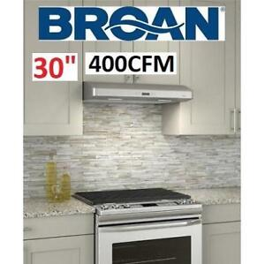 """NEW* BROAN 30"""" SS RANGE HOOD CRDN130SS 223578892 UNDERCABINET STAINLESS STEEL 400CFM  HOME HOUSE KITCHEN APPLIANCE CO..."""
