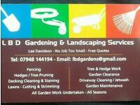 Ldb gardens and landscapeing services