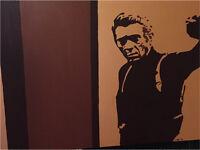 Steve McQueen wall art painting