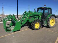 Farm equipment. Loader Tractors, Haying, Harvest