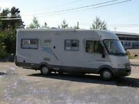 Hymer B654 fixed rear bed