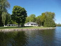 335 Ft. of Prime Trent Shoreline with Guest House and Pool
