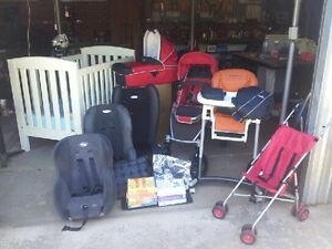 Baby package inc Boori cot, Steelcraft Strider pram + lots more Beverley Charles Sturt Area Preview