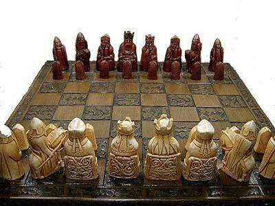 stunning heavy isle of lewis chess set chessmen game pieces perfect condition