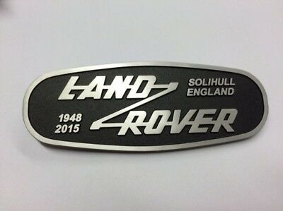 New Defender Solihull England front grille Metal Oval BADGE 1948-2015 Land Rover
