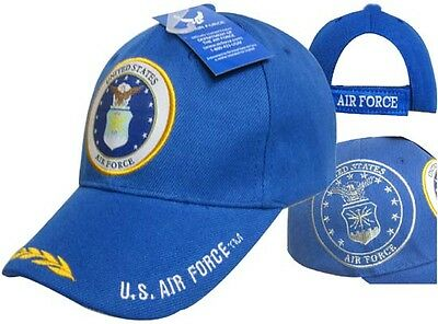 8f2bc5e809e UNITED STATES AIR FORCE with SHADOW AND SCRAMBLED EGGS Ball Cap