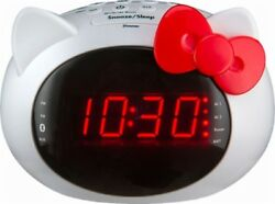 BrandNew!!iHome Hello Kitty Bluetooth Dual Alarm Clock Radio Speaker (Si-B62.FX)
