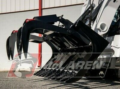 Dual Cylinder Grapple Bucket Standard Duty For Bobcat 78 Wide