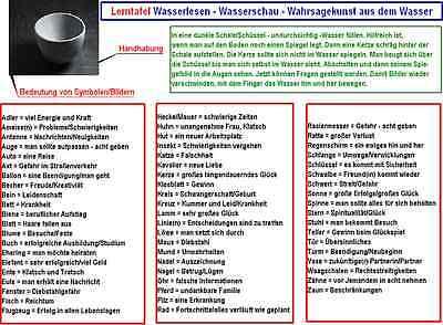Lerntafel Wasserlesen / Kaffeesatzlesen - Wahrsagekunst