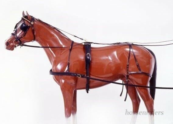 Horse Driving Harness - Tracker - Black Leather - Horse Size