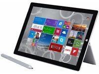 Surface pro 3, i5 cpu, 4gb ram, 128gb ssd. stylus pen, type cover