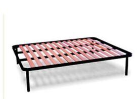 Iron Slatted Bed Base with APPLE Beechwood Slats