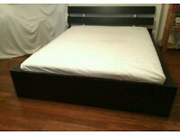 Ikea kingsize bed+mattress/FREE DELIVERY