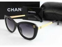Chanel Women's Sunglasses New Black/Gold